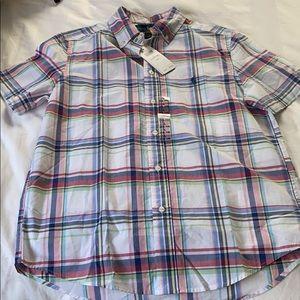 New Boys Ralph Lauren plaid short sleeve shirt L